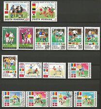 Coupe du Monde de FOOTBALL ROUMANIE POSTA ROMANA lot de timbres oblitérés /T238