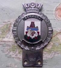 Rare Old Heavy Chrome Car Mascot Badge   c1960 Bermuda Crest  by J R Gaunt