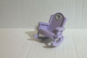 Fisher-Price Loving Family Dollhouse Furniture Purple Rocking Chair Child Rocker