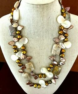 Pearl Necklace Blue Jasper and Pearl Necklace Jasper Pearl Necklace Aqua Jasper Necklace Ochre Jasper Necklace Jasper Necklace