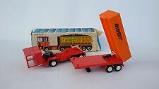 Vintage Old Gdr Bisn Friction Plastic Truck Toy + Box