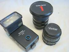 3 Piece Lot of Vivitar Series1 19-35mm 1.3.5 - 4.5 + 28mm 1:28 Wide Angle + more