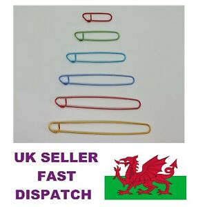Stitch Holders Markers Aluminium  Pack of 6 or Singles for Knitting Crocheting