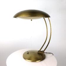 Vintage Brass Saucer Desk Lamp Christian Dell Kaiser Idell Mid Century Bauhaus