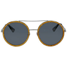 Gucci Round Yellow Glitter Metal Sunglasses