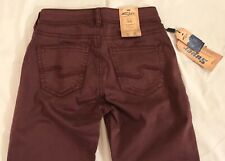 Silver Jeans Suki Super Skinny Stretch Womens Fluid Size 26x31 Red Wine Color