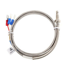 1m High Temperature Cable PT100 RTD with 6mm Thread Thermometer Sensor  BEST