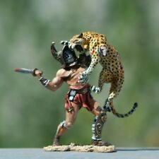 Elite Painting tin/Lead soldier,Roman Bestiarii Gladiator,rare,collectable