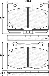 StopTech For 05-12 Acura RL Disc Brake Pad Set Front Centric - 308.10910
