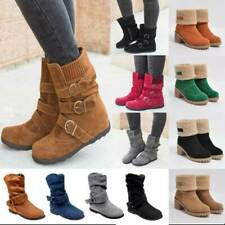 Women Lady Flat Snow Winter Warm Lounge Ankle Boots Booties Shoes Sizes Fashion