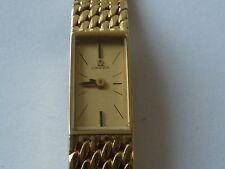 Vintage Ladies Omega 18k Gold Bracelet Cocktail Watch. Back Winder. Mid 60's