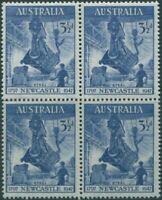 Australia 1947 SG220 3½d Newcastle block MNH