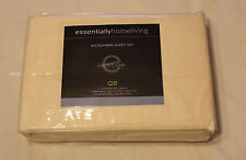 Essentially Home Living Cream Queen Bed Polyester Microfibre Sheet Set New