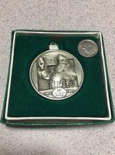 Coca Cola Santa Round Bar Coin Token Medal Medallion 60yrs 1931-1991 orig box