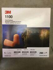 200 Pair 400 Plugs Of 3m 1100 Disposable Foam Earplugs 29 Db Nrr