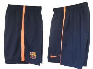 Neuf Nike Barcelona Away Football Short Nbp Jeunes Garçon Fille XL Âge 13-15 Ans