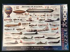 1000 Piece History Of Aviation Puzzle -Eurographics Jigsaw Airplanes Made in USA