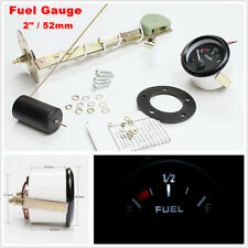 "2"" 52mm Black Round Car SUV Truck Fuel Level LED Gauge Meter E-1/2-F Pointer Kit"