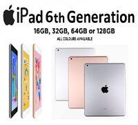 "Apple iPad 6th Generation 9.7"" Wifi 32GB / 12GB Rose Gold / Space Grey / Silver"