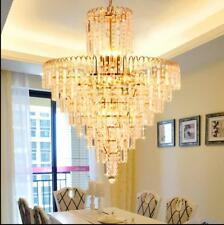 Restaurant chandelier LED crystal light circular modern Dining Room kitchen room