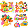 Kids Pretend Role Play Kitchen Fruit Vegetable Food Toys Cutting Set Child Xmas