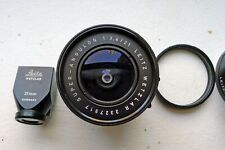 Leica M Lens Super-Angulon 3,4/21 mm Black - 21mm Finder - beautiful condition