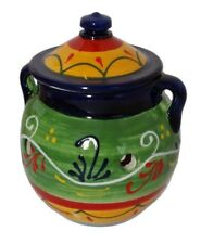 Garlic Storage Jar Kitchenware 16 X 15 cm Traditional Spanish Handmade Ceramic