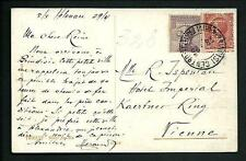 Italia Regno - Cartolina di Trieste affrancata con francobolli perfin - anni '20