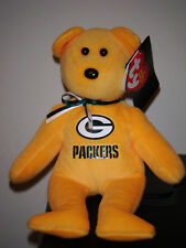 "Ty Beanie Baby ~ GREEN BAY PACKERS 8"" NFL Football Bear ~ 2015 NEW MINT ~IN HAND"