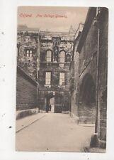 Oxford New College Gateway Vintage Postcard 730a