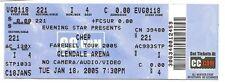 2005 Cher Full Concert Ticket Farewell Tour 1/18/05