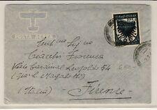 16296- Grecia, Rodi,  busta per Italia,  1942, £1 annullo muto