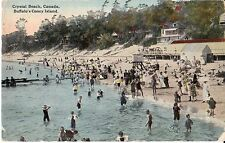 Crystal Beach Ontario Canada Bathers - Prelinen - 1913 Fair