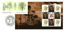 18 SETTEMBRE 2000 un tesoro di alberi RIQUADRO COMPLETO 4 RM FDC Cardiff SHS