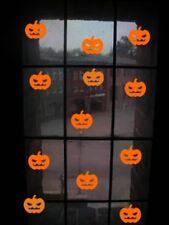 Halloween Pumpkin Orange Vinyl Stickers Window Decorations Spooky Party Kids