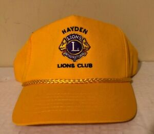 RARE HAYDEN ALABAM LIONS CLUB Embroidered Baseball Cap Hat SnapBack TRUCKERS EUC