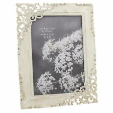 Vintage Style Ornate Cream Metal Photo Frame New Boxed FS18546