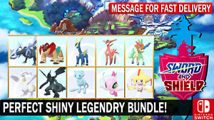 Pokemon Sword & Shield Shiny 6IV Legendary 10 Pokemon Bundle!! Mew Keldo Kyurem
