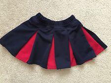 Alleson Girls Cheer Skirt Allison Cheerleading Pleated Blue Red SZ M Medium