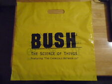 RARE PROMO ONLY Bush SHOPPING BAG plastic cd lp Science of Things gavin rossdale