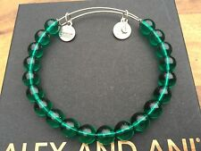 RARE ALEX and ANI EMERALD ASSORTED VINTAGE BEADED Singles BANGLE BRACELET
