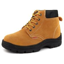 New Warm Mens Safety Shoes Steel Toe Resistant Oil&Acids&Impale Work Ankle Boots