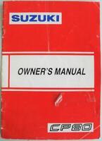 Suzuki CP80 1990 #99011-29A20-029 Scooter Owner Handbook