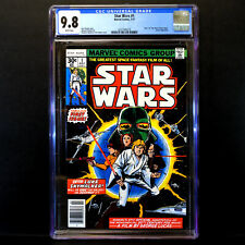 Marvel Star Wars Comic #1 (1977) 🔥 Original First Issue 🔥 CGC 9.8  White Pages