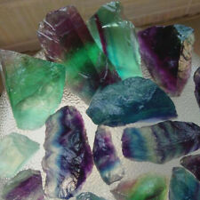 Natural Colour Fluorite Stone Crystal Quartz Healing Mineral Specimen Pendant
