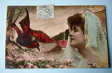 CPA - FEMME AU BOUVREUIL -NPAG STEGLITZ 1904 ORANOTYPIE 107/10 - RARE -TBE