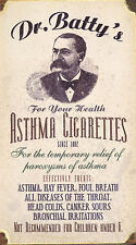 Medical Poster – Dr. Batty's Asthma Cigarettes (Picture Midical Anatomy Art)