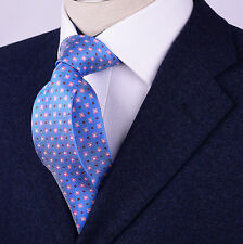 """Pink Daisy Floral Purple Polka Dot Blue Fashion 3"""" Woven Skinny Tie Luxury Party"""
