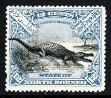 NORTH BORNEO 1897 12c. Black & Blue Crocodile Perf 14½ SG 106b MINT