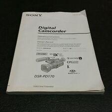 ORIGINAL - Sony DSR-PD170  Digital Camcorder Camera User's Owners Manual